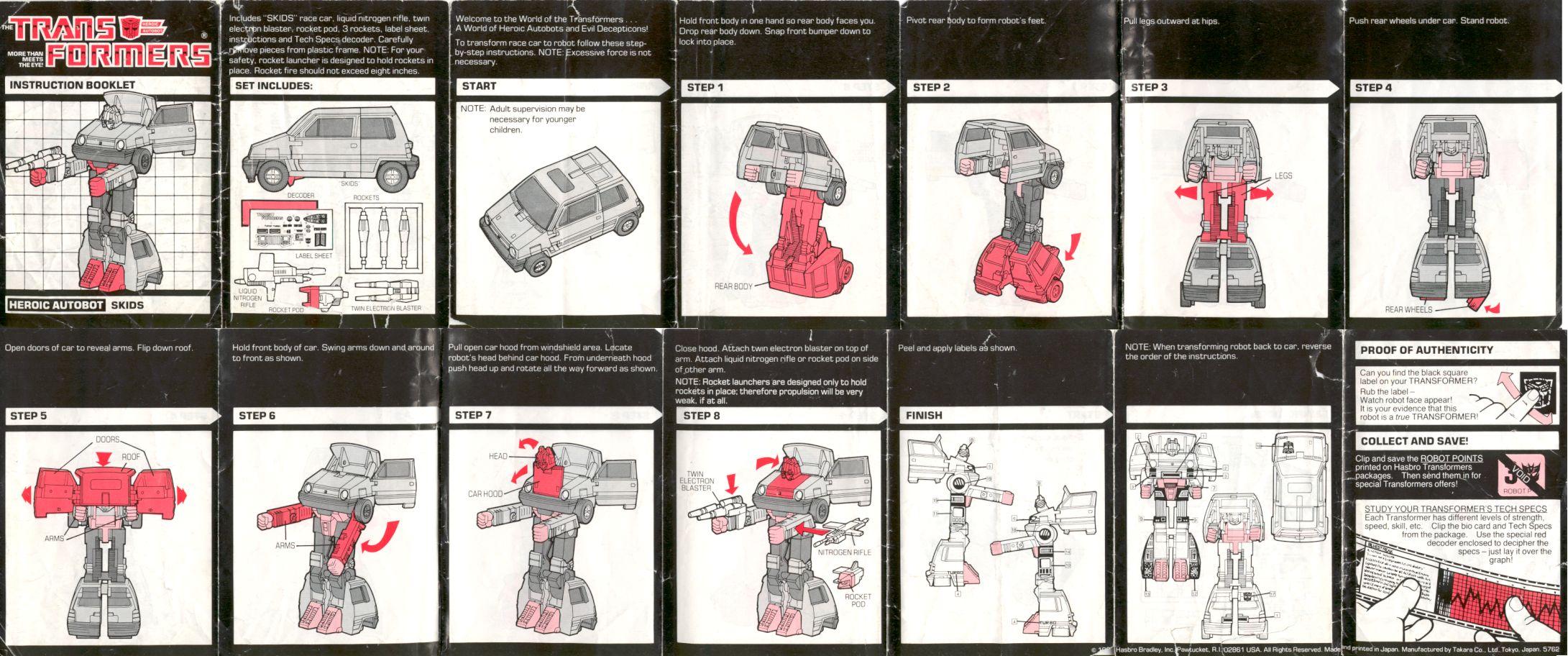 Botchs Transformers Box Art Archive Instructions